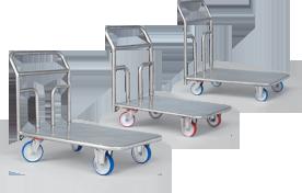 Carucioare platforma din inox pentru industria alimentara